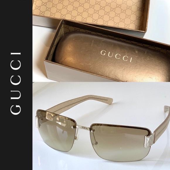 🕶 GUCCI Sunglasses, Case + Box